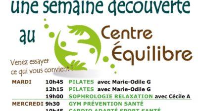 SEMAINE DECOUVERTE DES COURS COLLECTIFS